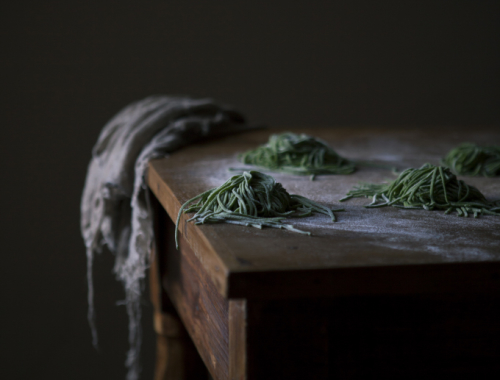 A story about plants & co. | Green fettuccine with nettles, truffle butter, sage and lemon | The Freaky Table