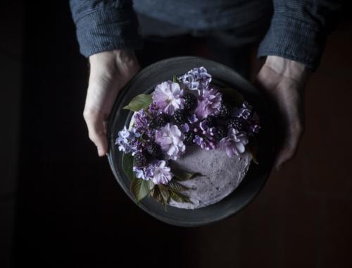 Blackberry Almond & Dark Chocolate cake & Saveur Blog awards nomination | The Freaky Table