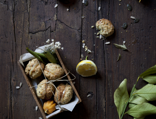 Rustic Macarons made with Lemon Scented Seeds & Filled with Lemon Curd   The Freaky Table by Zaira Zarotti