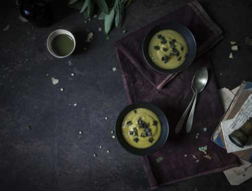 The Freaky Table |Short story for a Venetian soup with 'spezzati', green curry paste and crispy sage